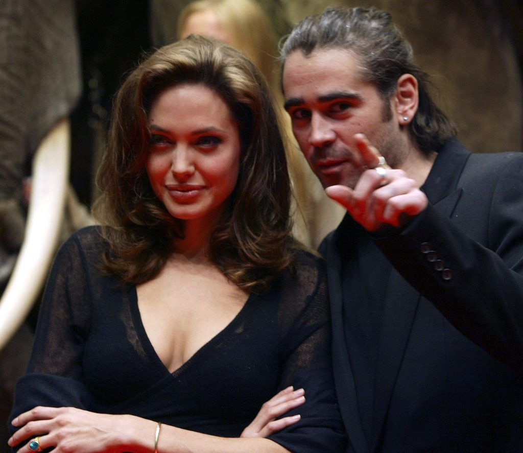 Colin Farrell with ex-girlfriend Angelina Jolie