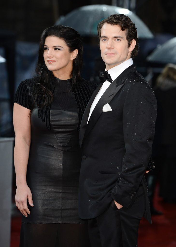 Henry Cavill with his ex-girlfriend Gina Carano