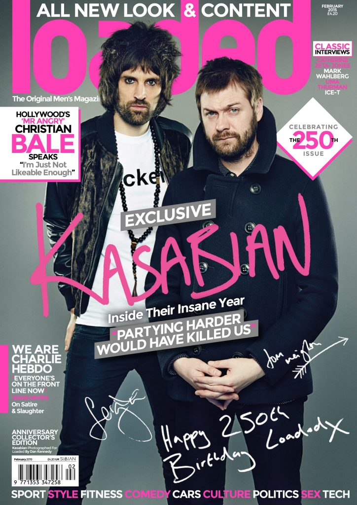 Kasabian celebrated Loaded's 250th issue