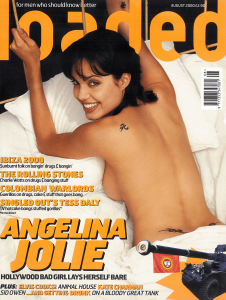 Angeline Jolie Loaded magazine cover classic carousel