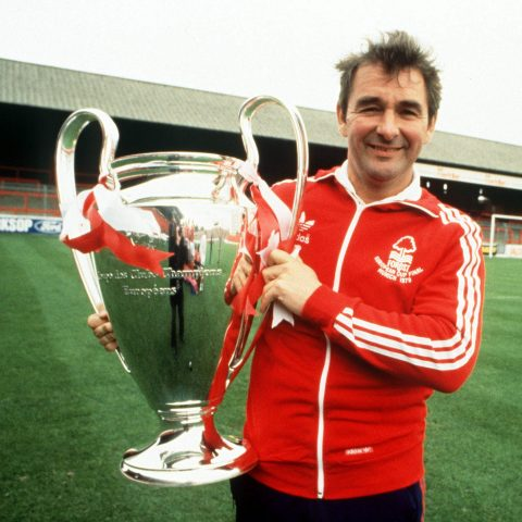 Brian Clough holds the European Cup in Nottingham Forest documentary I Believe in Miracles
