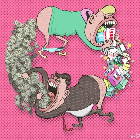 Steve Cutts' illustration Circle Of Life