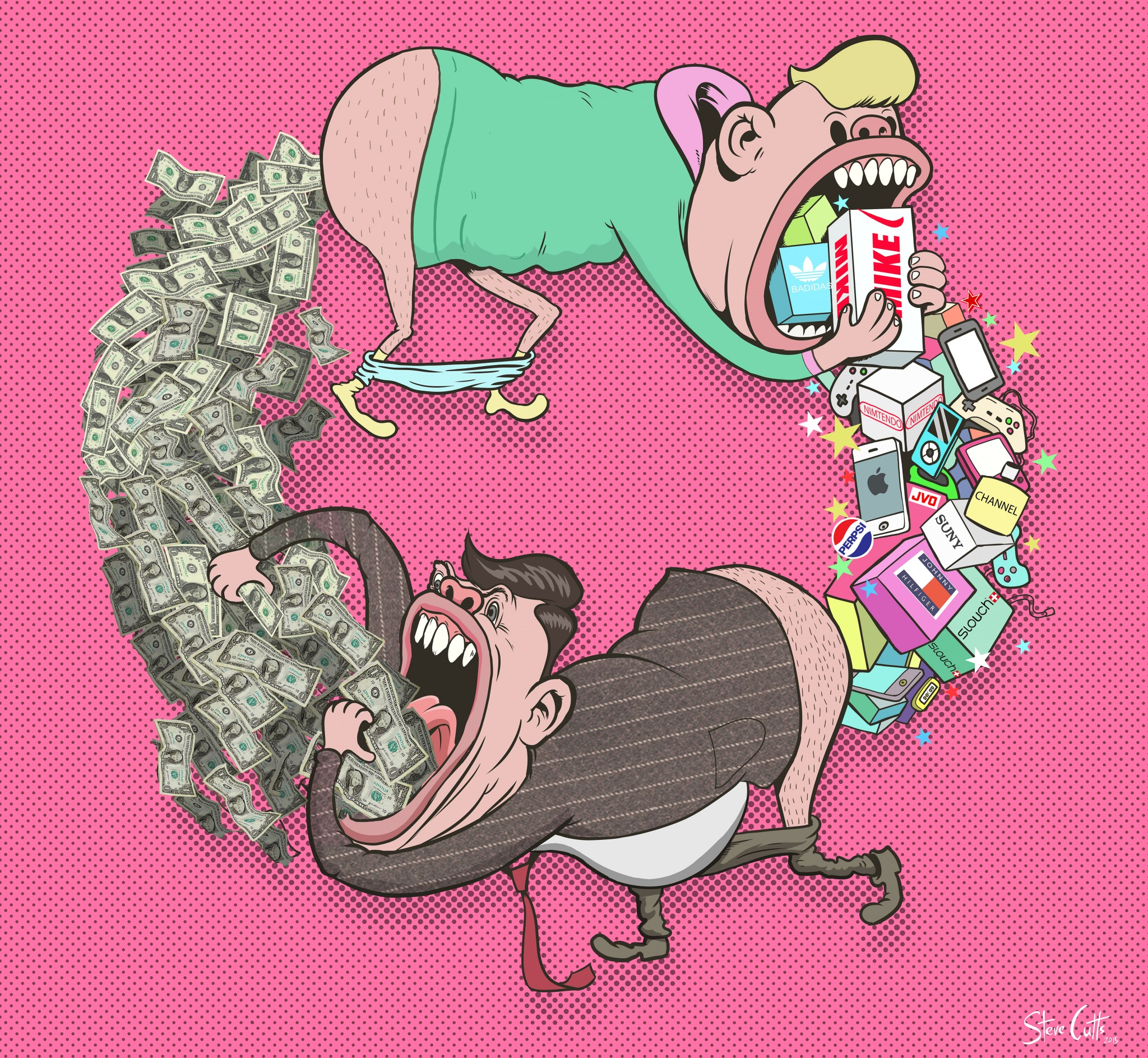 Circle Of Life Steve Cutts illustration Loaded