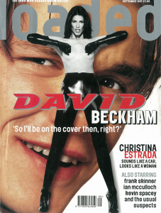 David Beckham Loaded magazine cover classic carousel