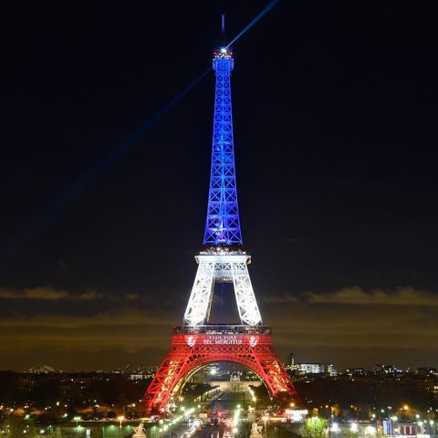 Landmarks were lit up in the colours of the French flag after the Paris atrocity