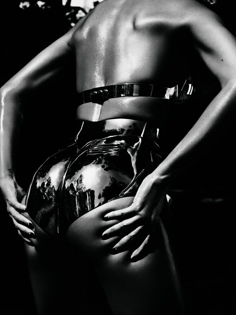 Gisele in one of her 50 Shades-style poses