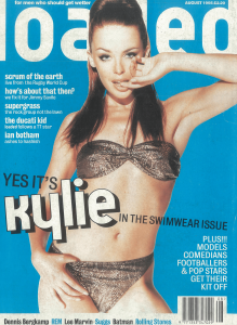 Kylie Minogue Loaded magazine cover classic carousel