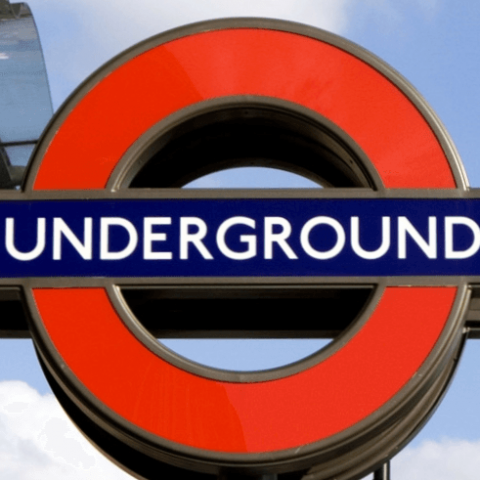 Underground sign for the Tube