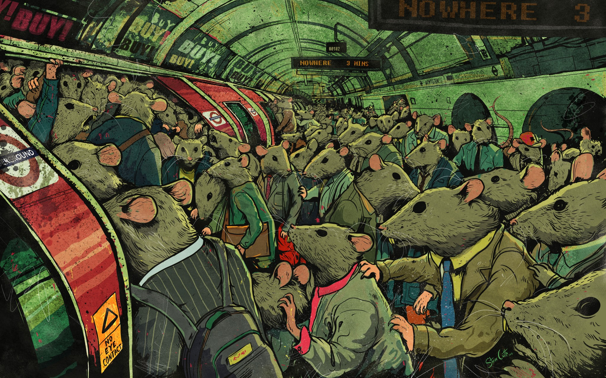 Tube Rats by Steve Cutts