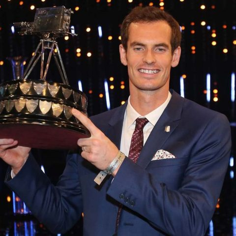 Andy Murray at the Sports Personality of the Year awards.