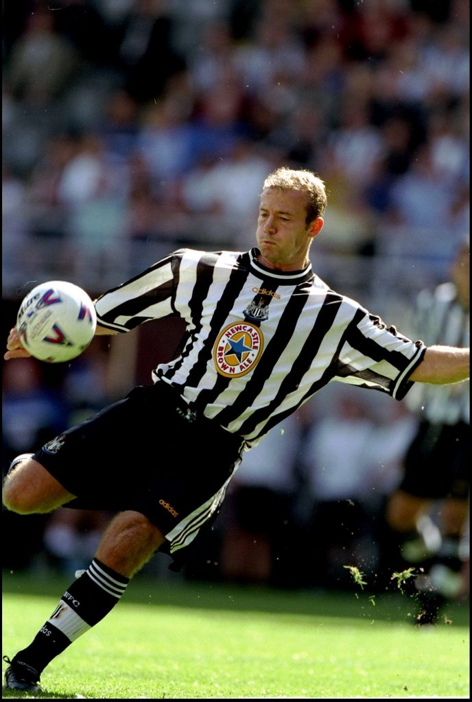Alan Shearer of Newcastle United, England and Match Of The Day