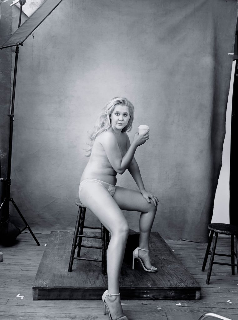 Amy Schumer for Pirelli shoot with Annie Leibovitz