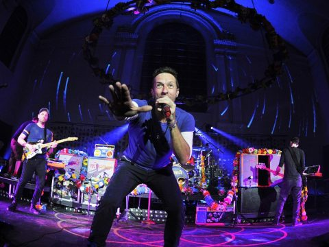 Coldplay live in December 2015