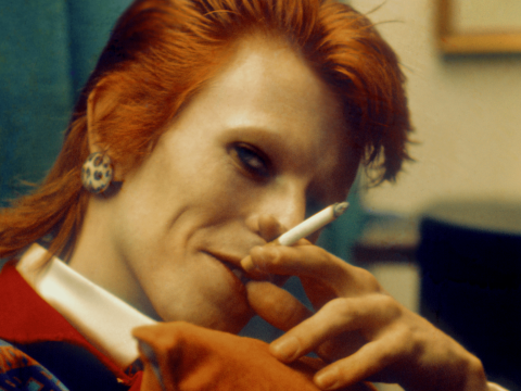 Life On Mars singer David Bowie backstage in Mick Rock's Ziggy Stardust book for Loaded