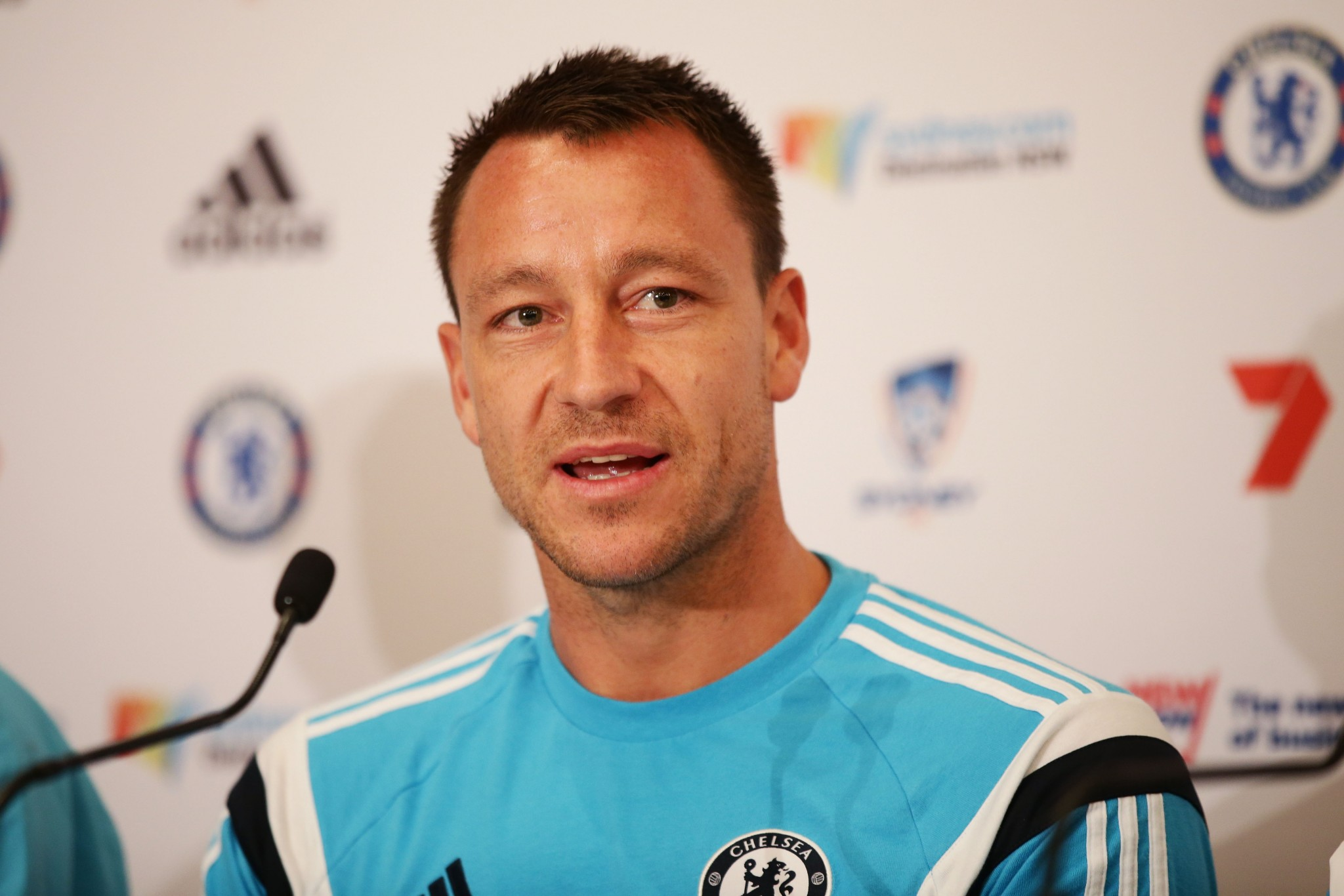 John Terry speaks to media during a press conference