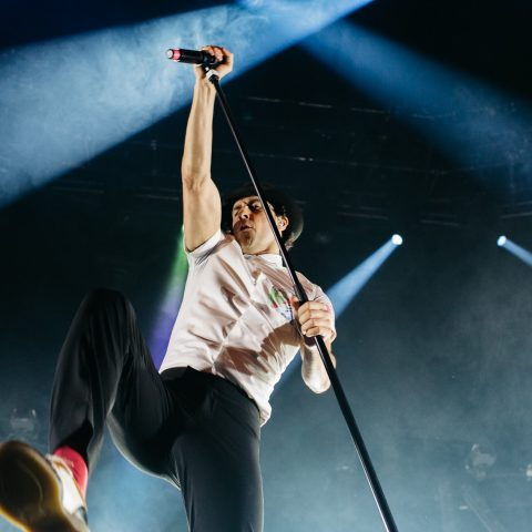 Maximo Park singer Paul Smith in concert