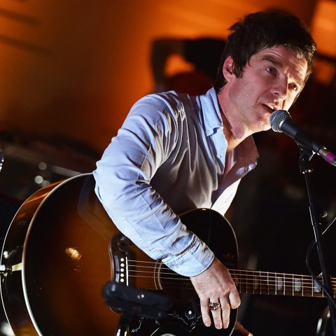 Noel Gallagher at his BBC concert where he reunited with Oasis bandmate Gem Archer