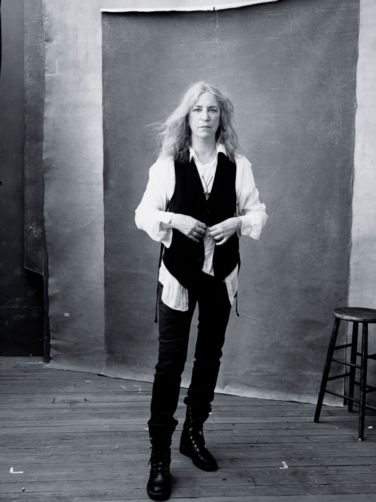 Patti Smith for Pirelli shoot with Annie Leibovitz