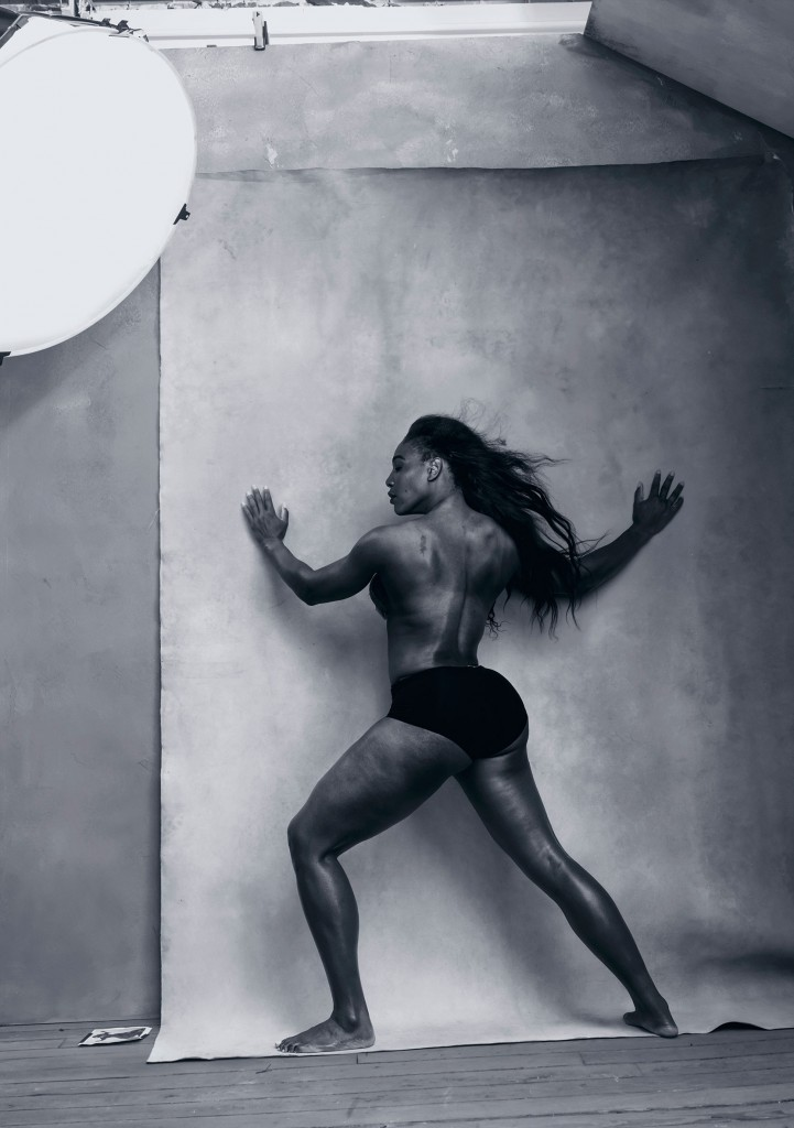Serena Williams for Patti Smith for Pirelli shoot with Annie Leibovitz
