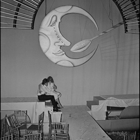 The moon and spoon at Studio 54