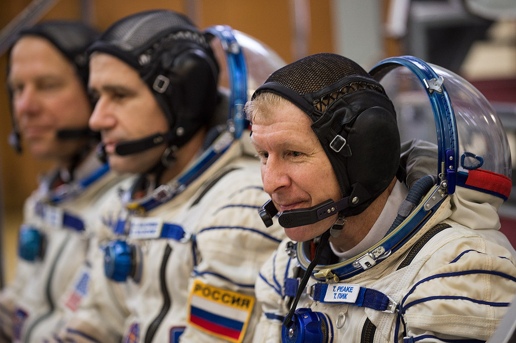 Tim Peake and his fellow astronauts