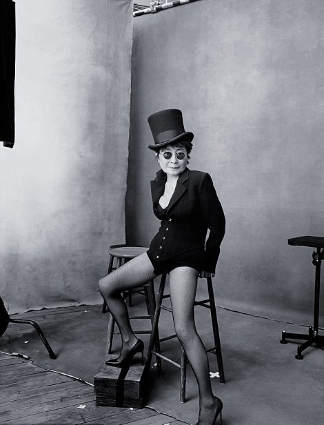 Yoko Ono for Pirelli shoot with Annie Leibovitz