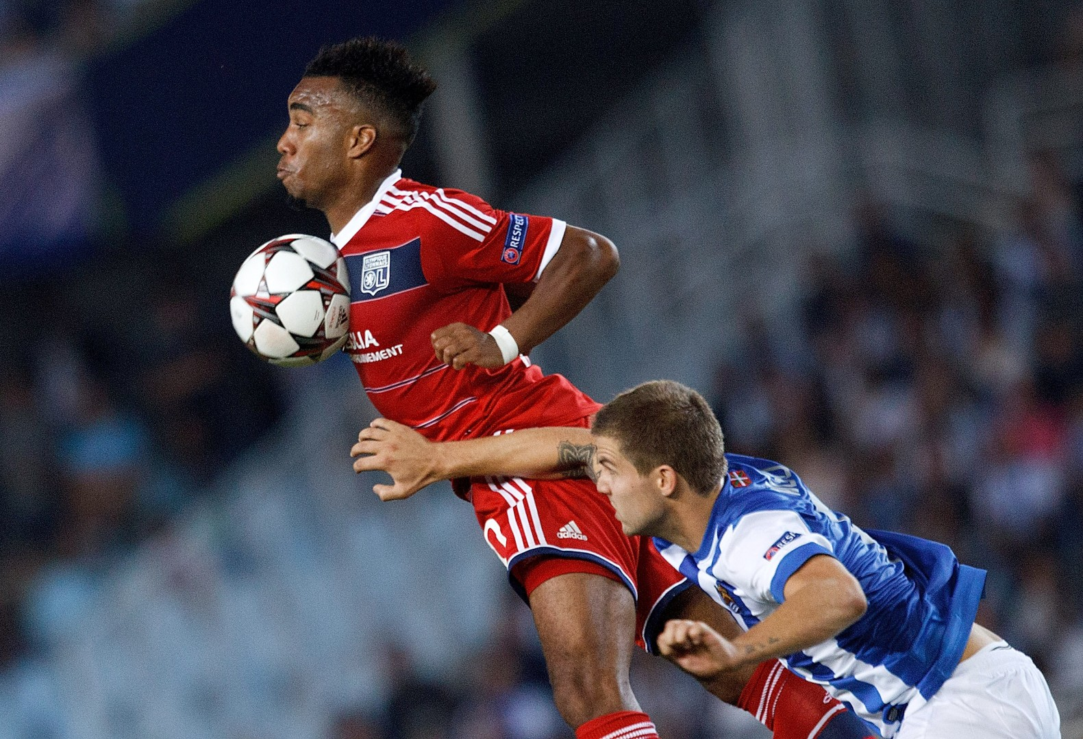 Lyon's French striker Alexandre Lacazette, linked with Newcastle