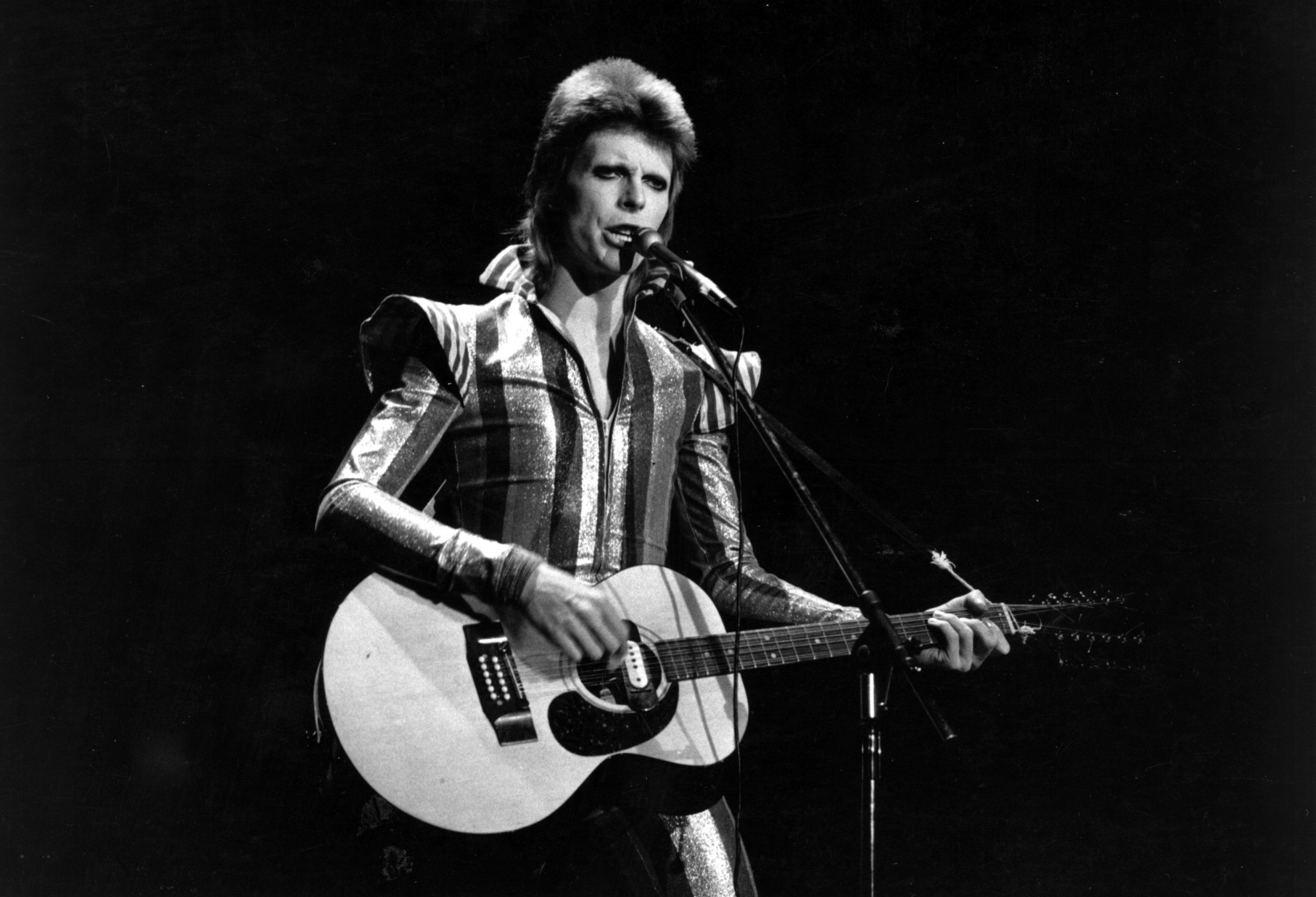 David Bowie performs his final concert as Ziggy Stardust at the Hammersmith Odeon, London
