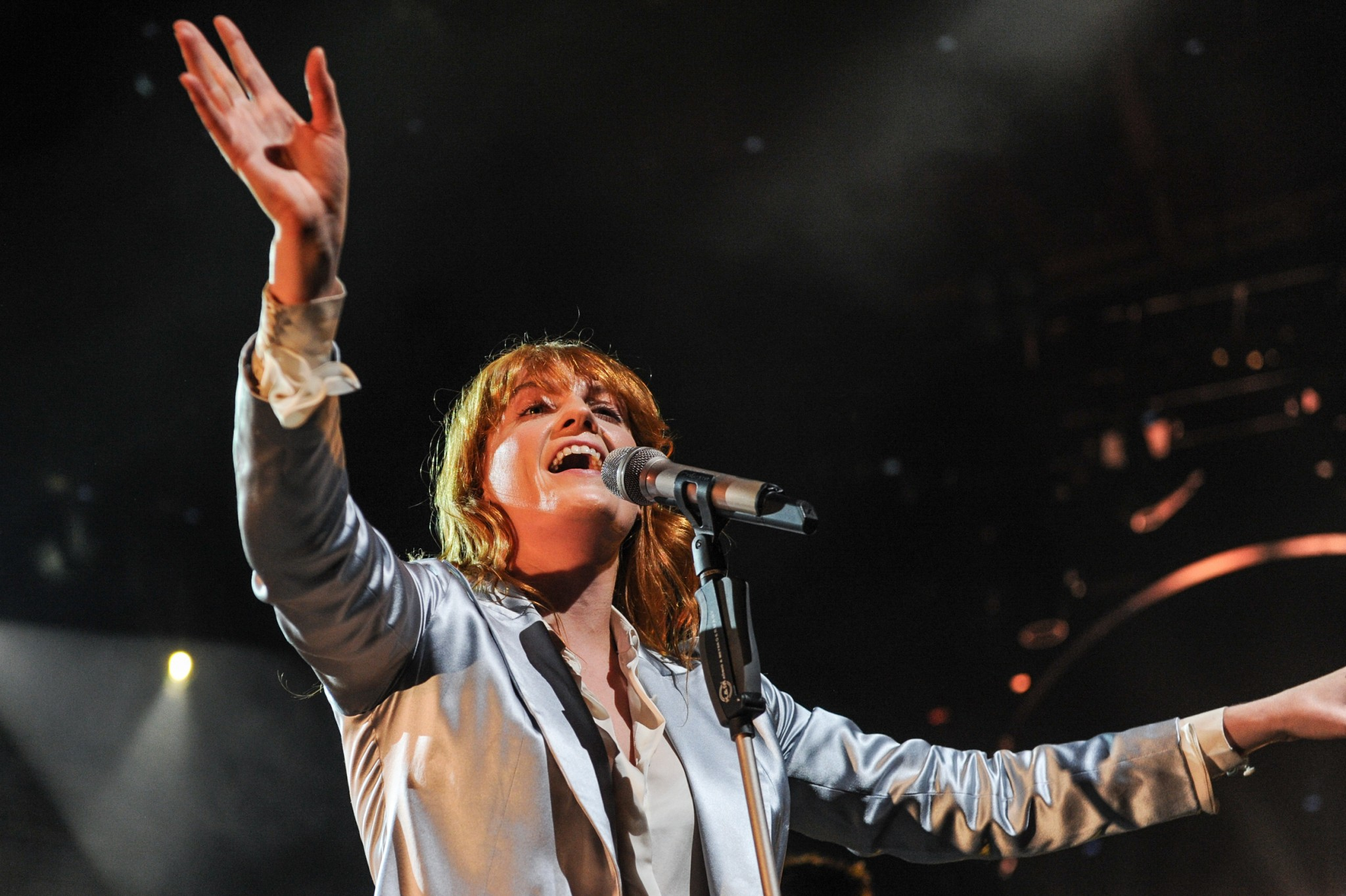 Florence Welch of Florence And The Machine whose album How Big, How Blue, How Beautiful wins Loaded's Albums Of 2015