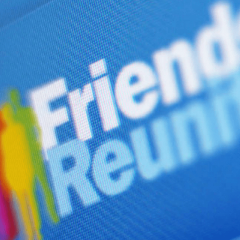 The homepage of the now defunct Friends Reunited