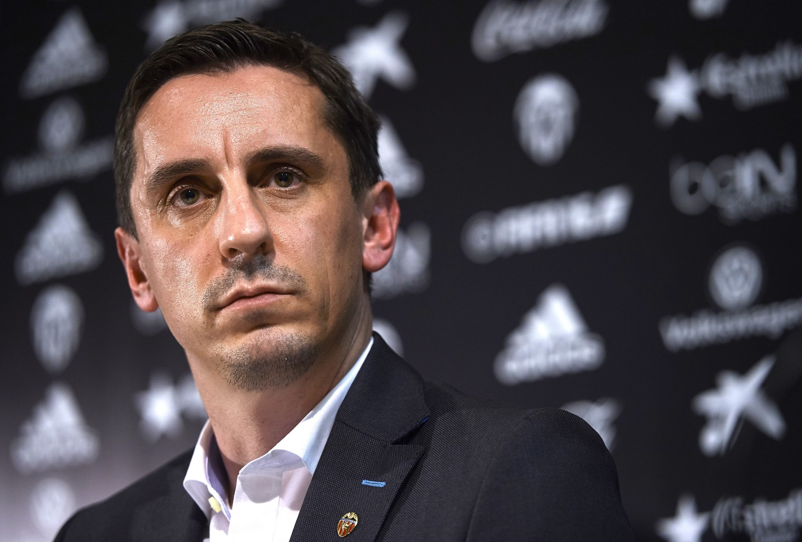Former Manchester United star turned Valencia manager Gary Neville