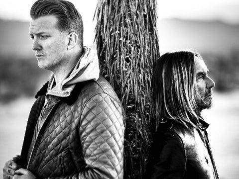 Iggy Pop and Josh Homme pose for their Post Pop Depression album