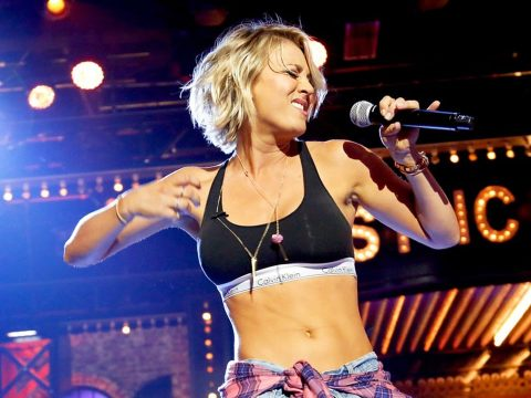 The Big Bang Theory star Kaley Cuoco performs on Lip Sync Battle