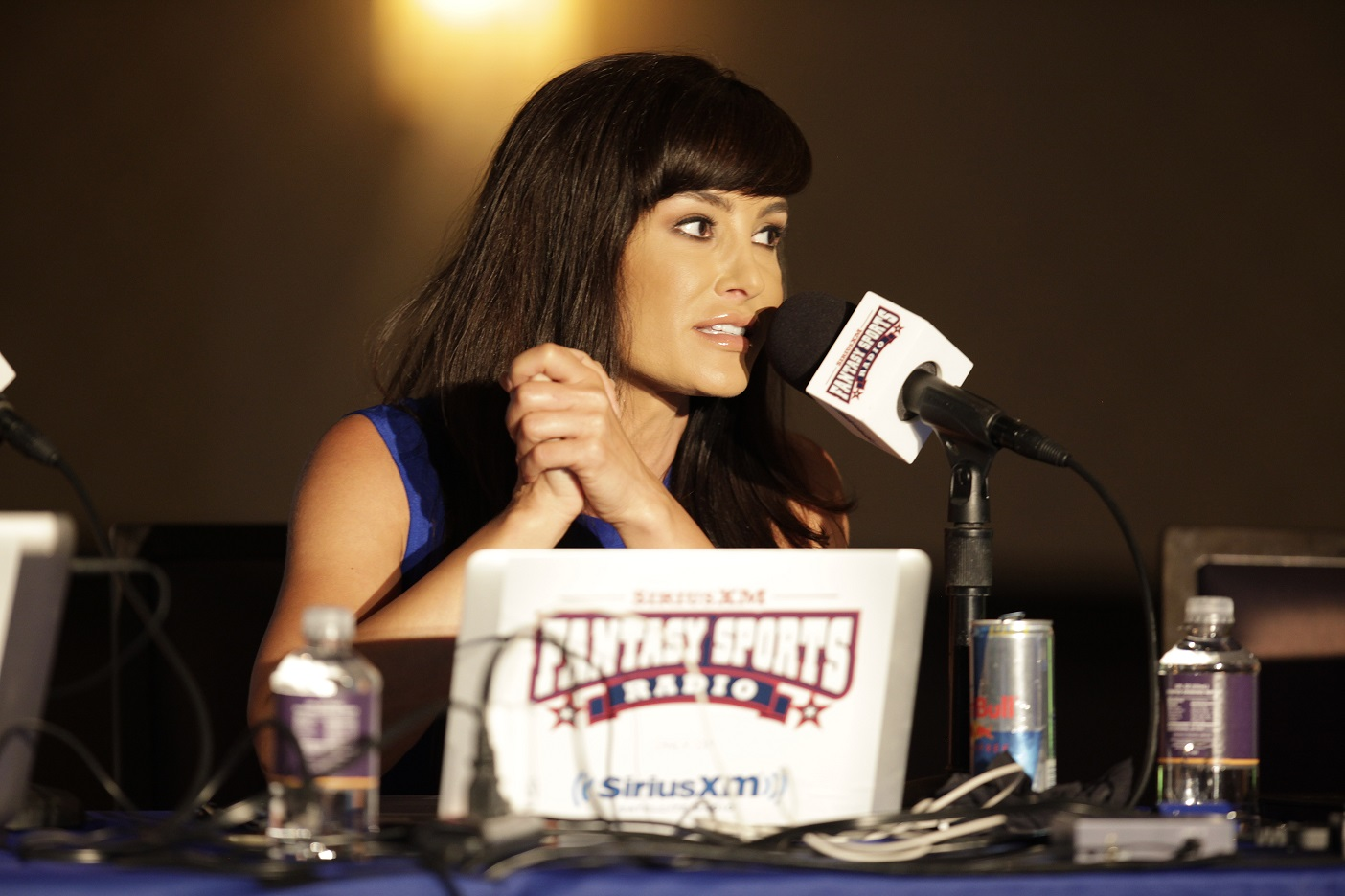 Lisa Ann at the Sirius celebrity fantasy football draft – Loaded