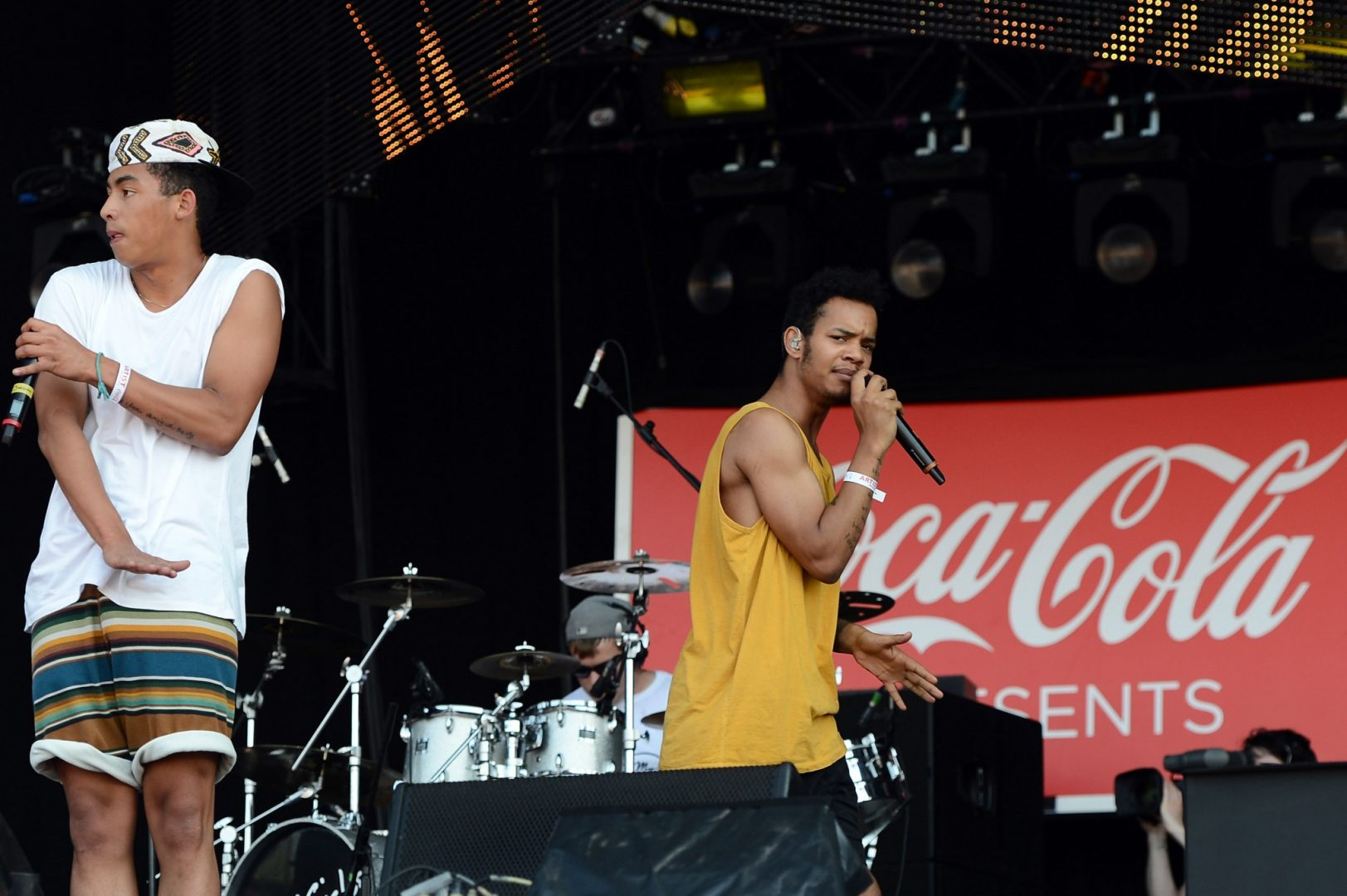 RIzzle Kicks' Jordan Stephens and Harley Alexander-Sule in concert