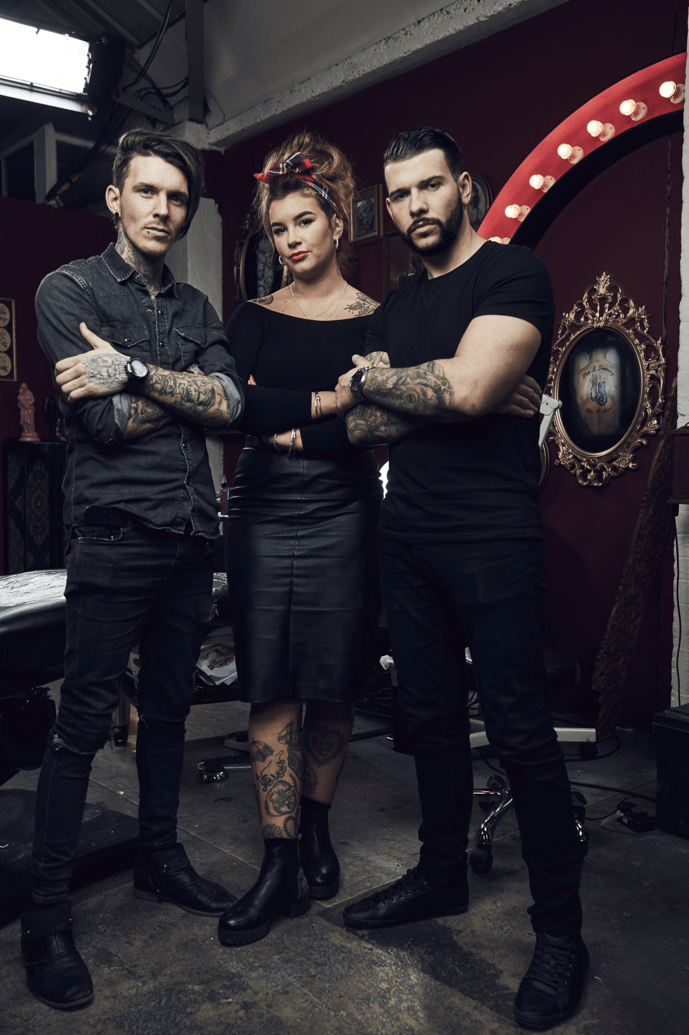 Sketch, Jay and Alice from Channel 4's Tattoo Fixers – Loaded