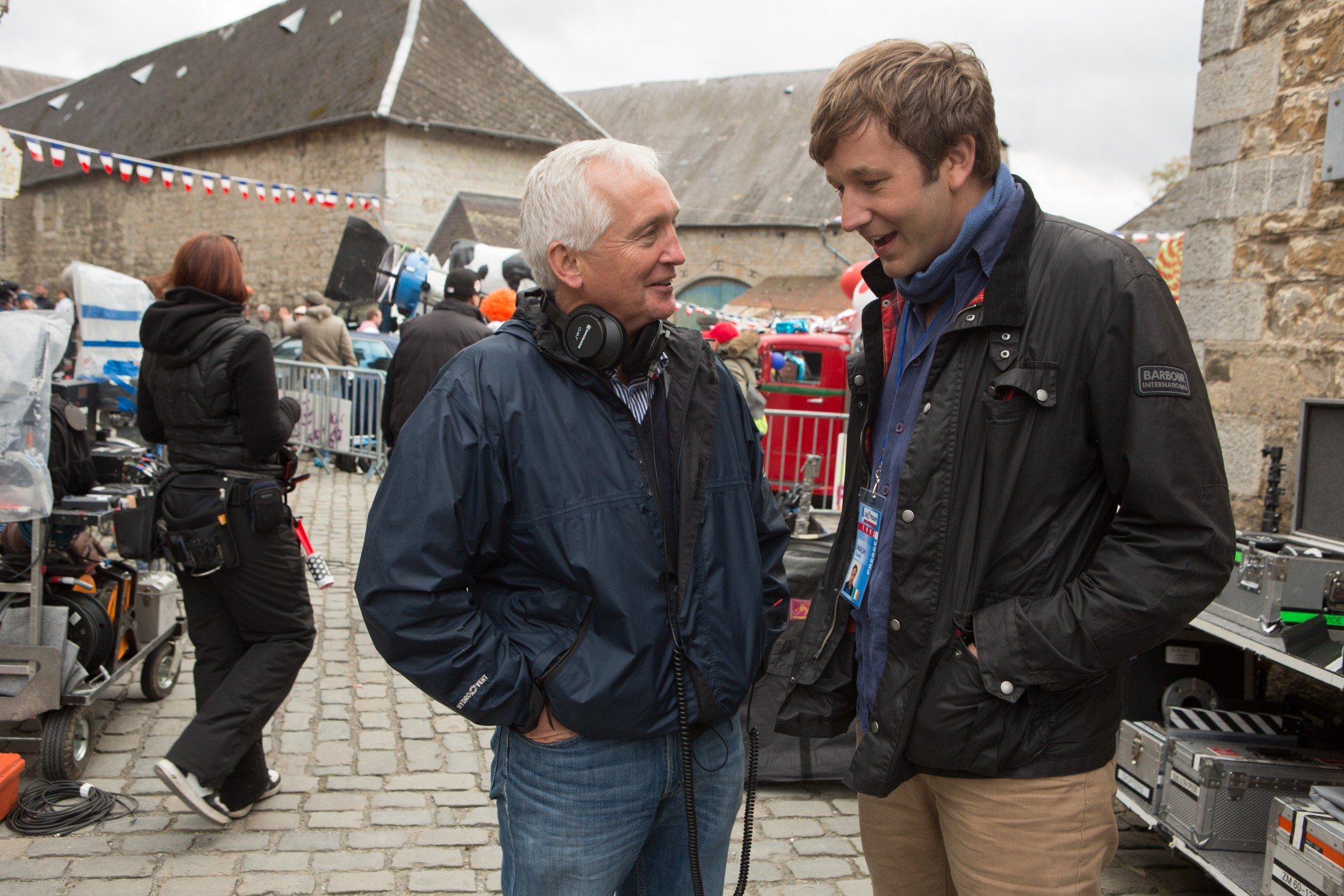 Actor Chris O'Dowd with journalist David Walsh