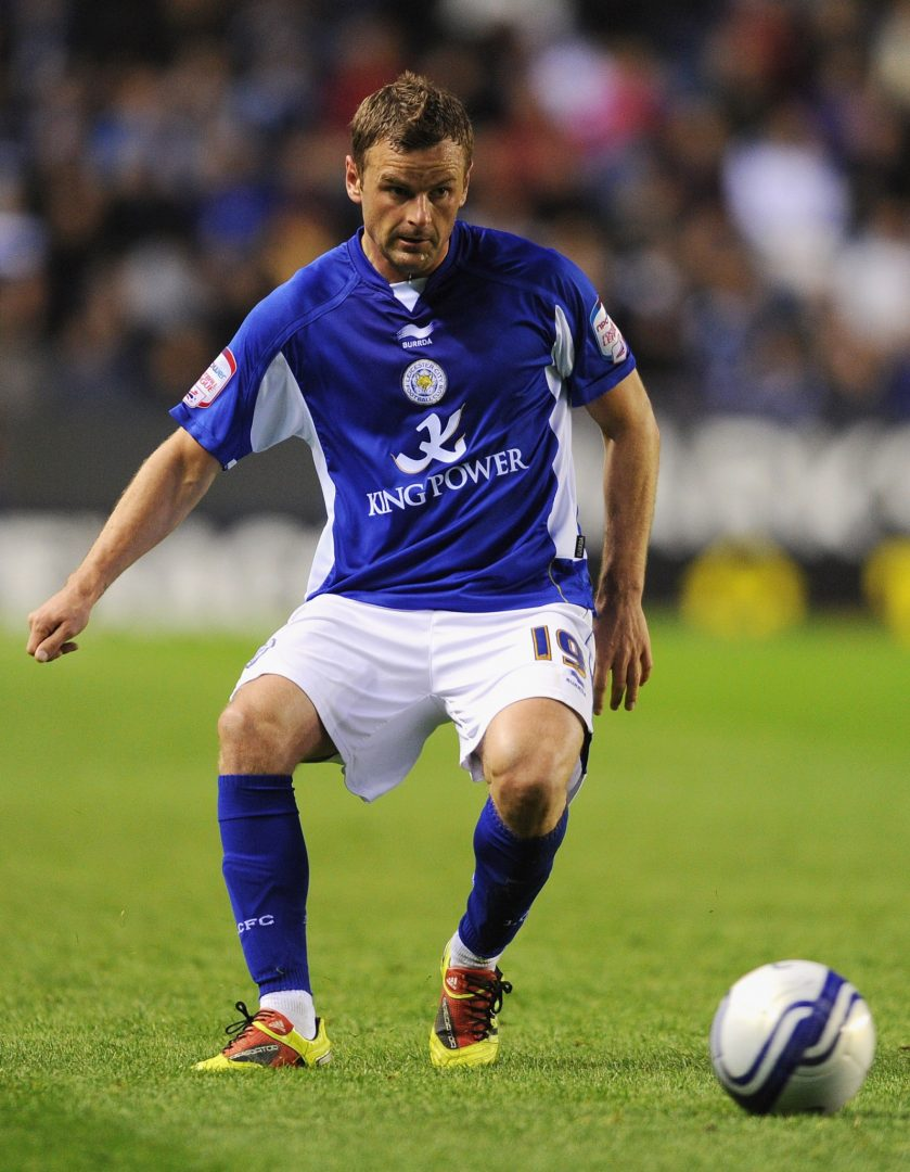 Richie Wellens lines out for Leicester City