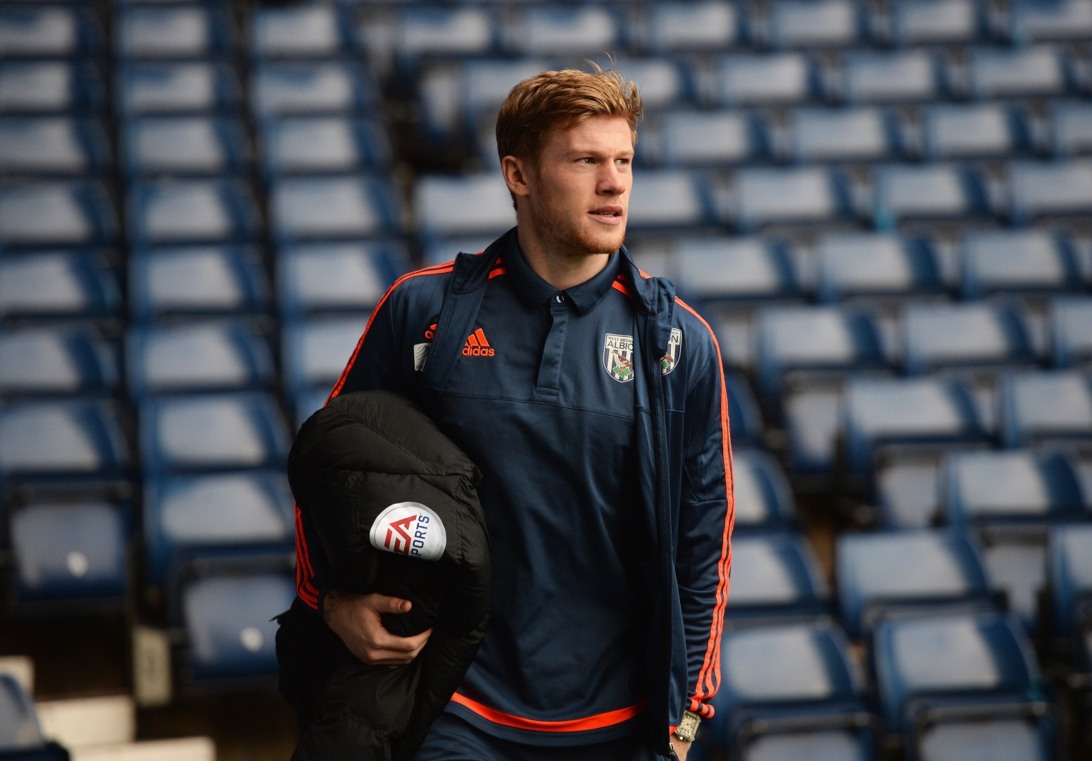 James McClean with West Brom