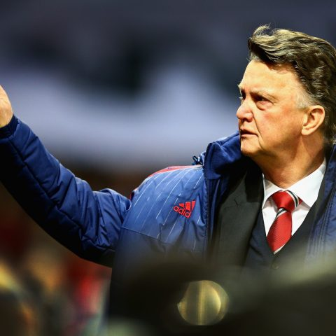 Louis van Gaal waves to the crowd