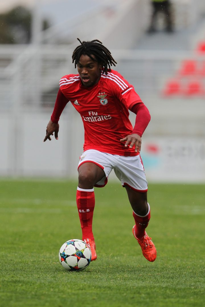 Renato Sanches playing for Benfica in the UEFA Youth League.