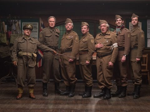 Daniel Mays with the Dad's Army cast