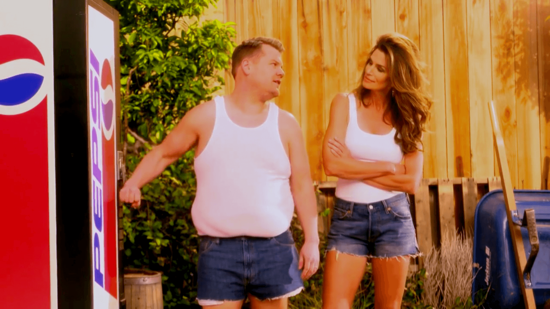 James Corden Cindy Crawford