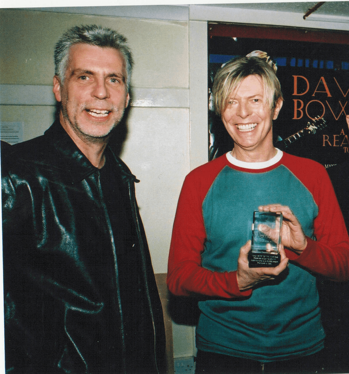 David Bowie with his tour promoter John Giddings