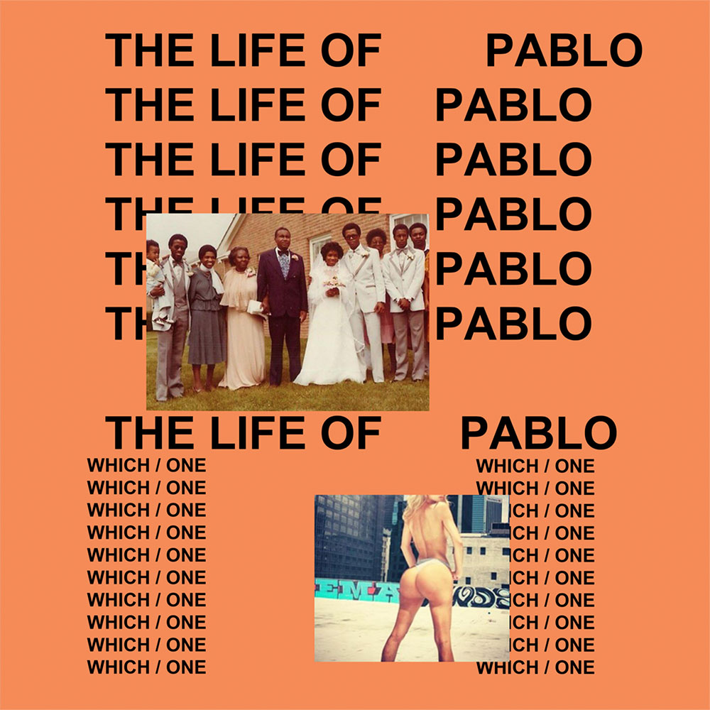 The sleeve of Kanye West's album The Life Of Pablo