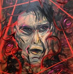 Lincoln Townley's portrait of Charlie Sheen