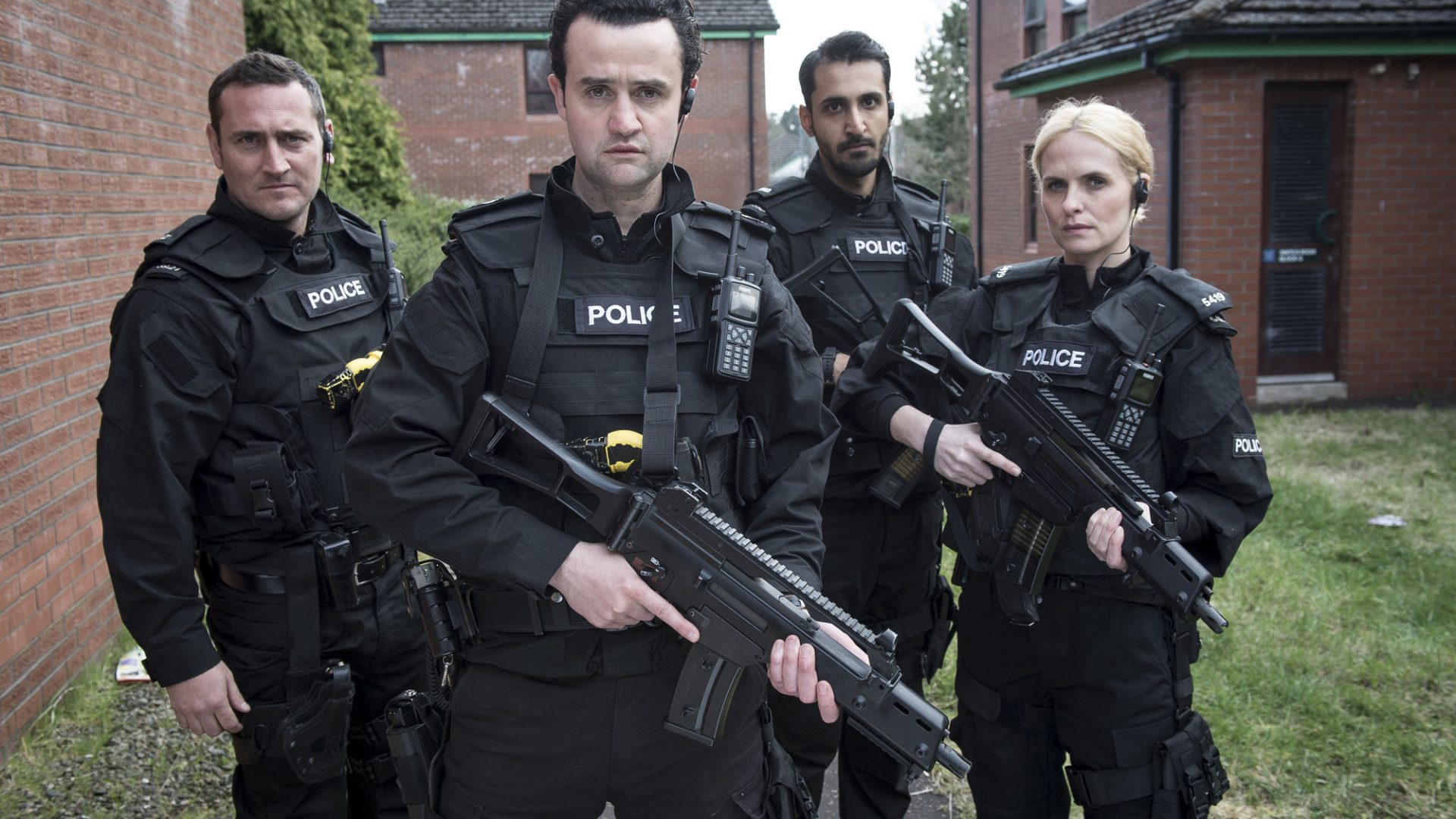 The cast of Line Of Duty