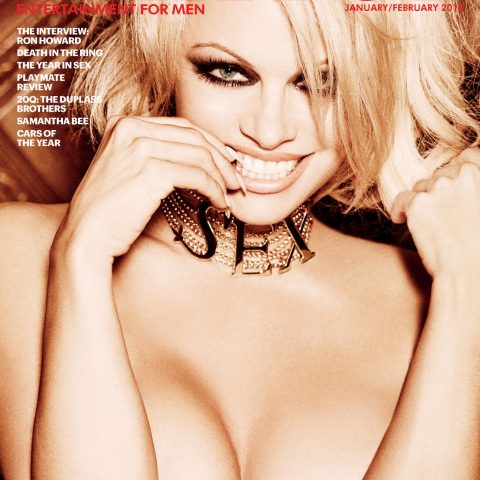 Pamela Anderson graced the final issue of Playboy featuring nudes in January – Loaded