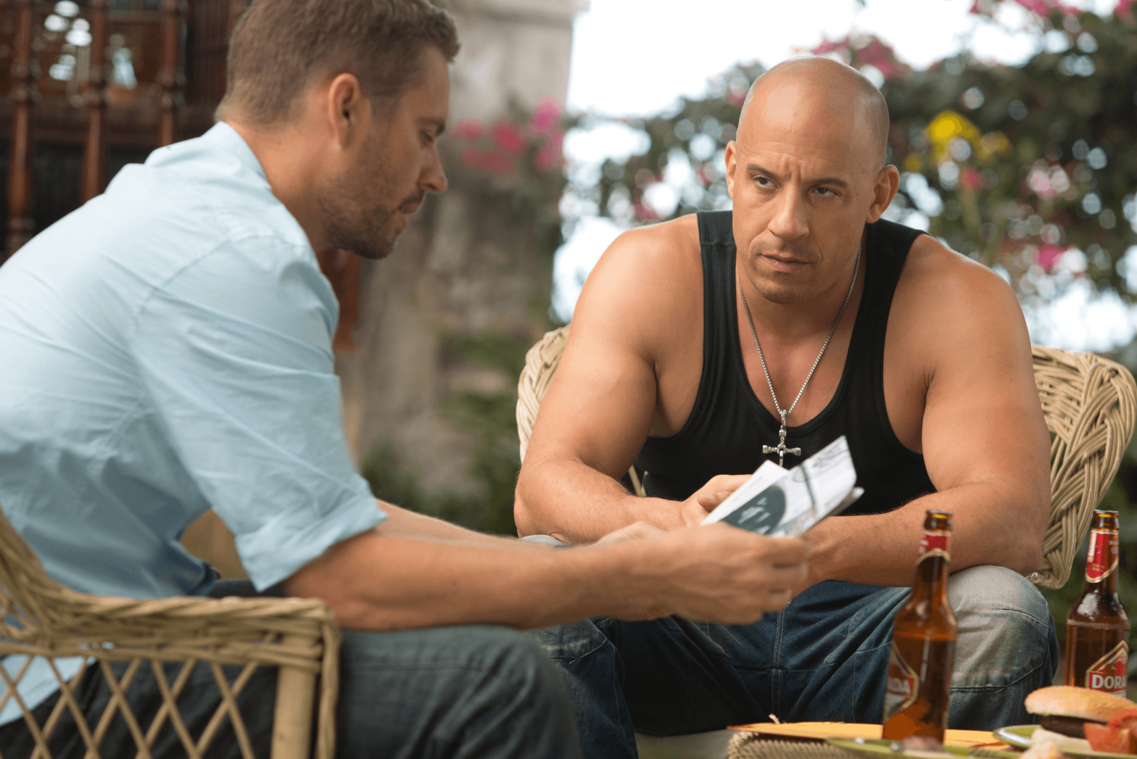 Paul Walker and Vin Diesel in Fast & Furious