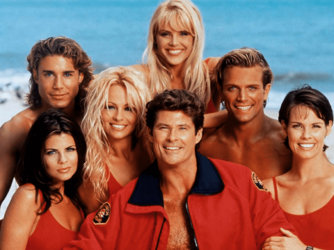 The Baywatch team together.